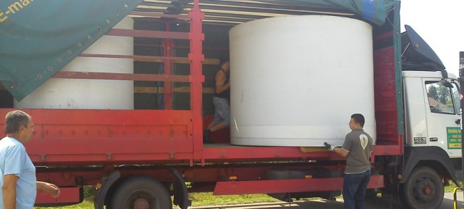 Building of Allwater Pavilion part 2: Containers arrived